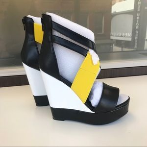 Yellow Color Block Wedges